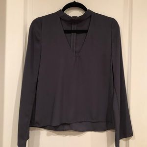 Olivaceous long sleeve top